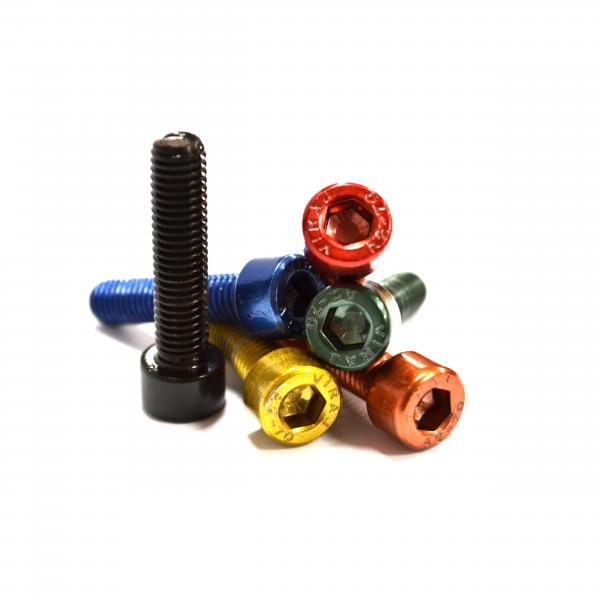 Untie Co coloured stem cap bolts